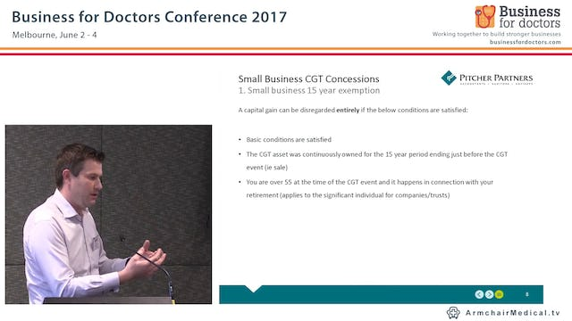 Small Business Capital Gains Tax (CGT) Concessions Scott Treatt