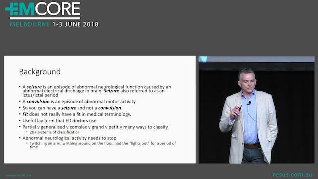 Seizure management Assoc Prof Alastair Meyer