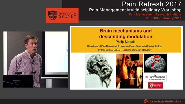 Brain mechanisms and descending modulation Professor Philip Siddall
