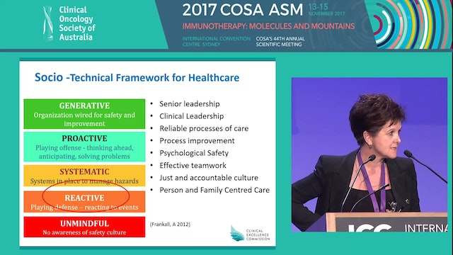 Creating learning systems for quality and safety in cancer care Carrie Marr