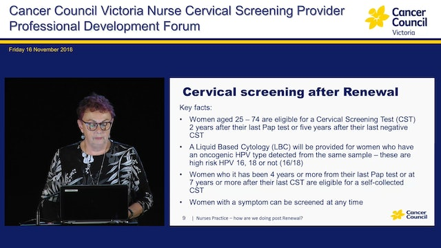Nurses Practice - how are we doing post renewal Sandy Anderson - Nurse Consultant, Cancer Council Victoria