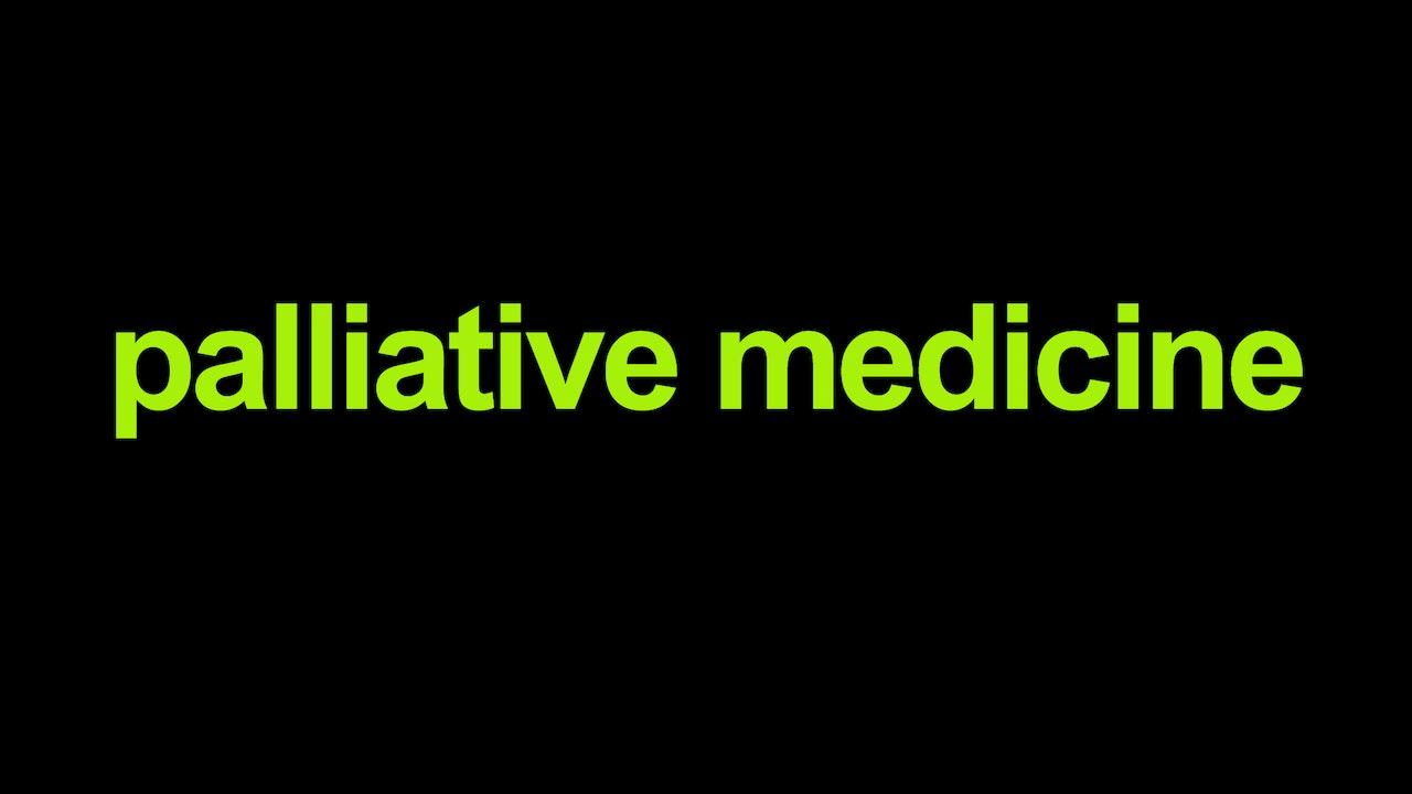Palliative medicine Blurred