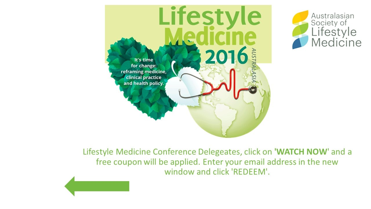 Australasian Society of Lifestyle Medicine 2016 Conference Day 1