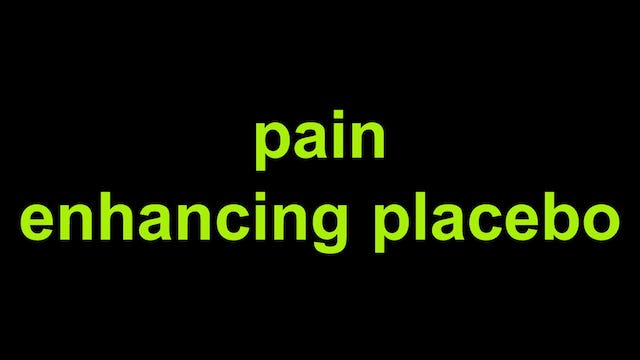 Pain and placebo