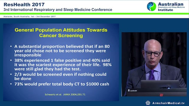 Lung Cancer Screening Prof Gerard Silvestri