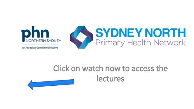 Sydney North GP Lectures