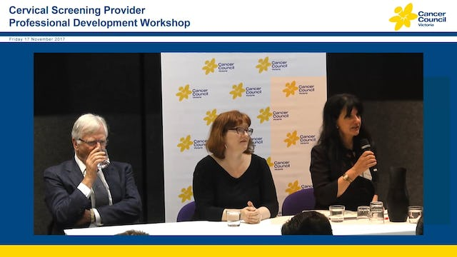 Cervical Screening Provider Professional Development Workshop Panel Discussion