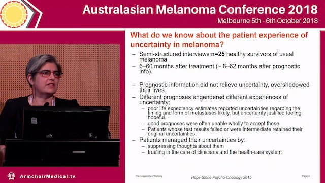 Living beyond melanoma is the fear di...