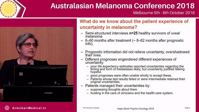 Living beyond melanoma is the fear different when you face recurrence or progression Haryana Dhillon