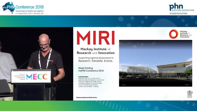Research and innovation challenging the siloed thinking in Australian healthcare Dr David Farlow Executive Director Research & Innovation and Associate Professor, MHHS