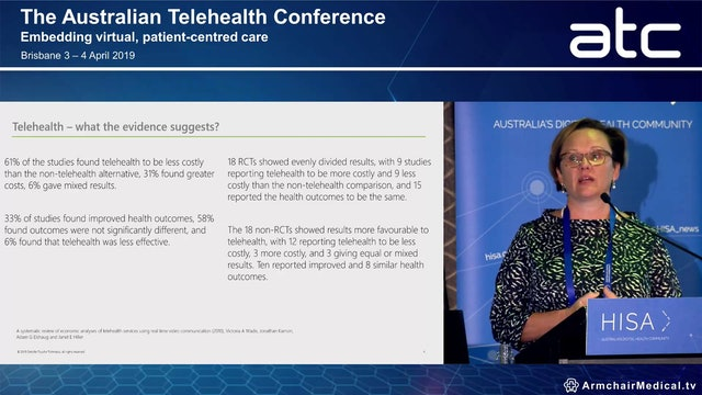 Changing the landscape of care System impacts and the value of telehealth and telemedicine in Australia Natasha Doherty Partner, Deloitte Access Economics