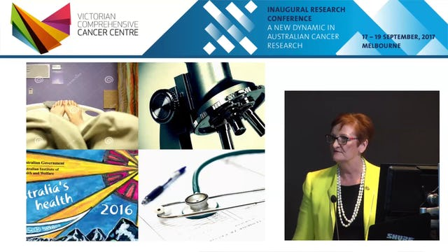 Beyond discovery – a health system approach to improving cancer outcomes - Prof Sanchia Aranda