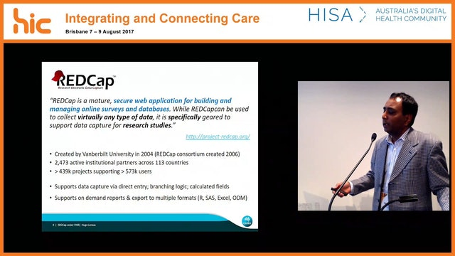 REDCap under FHIR Enhancing electronic data capture with FHIR capability Dr Hugo Leroux