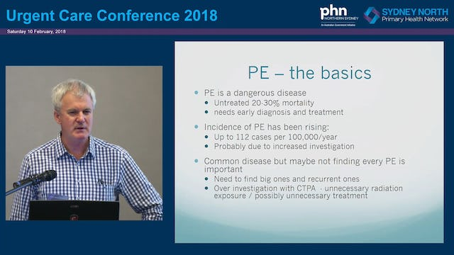 Challenges in Diagnosis of Pulmonary Embolus Dr Robert Day