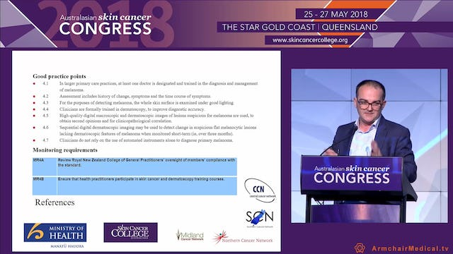 New Zealand Melanoma Standards Dr Richard Martin
