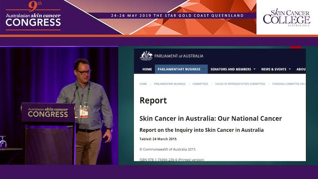 Wrong end of the scalpel - Locally advanced skin cancer - a personal perspective Dr Scott Arnold