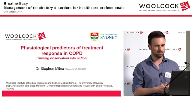 Physiological predictors of treatment response in COPD Dr Stephen Milne
