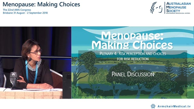 Risk perception and choices for risk reduction Panel Discussion