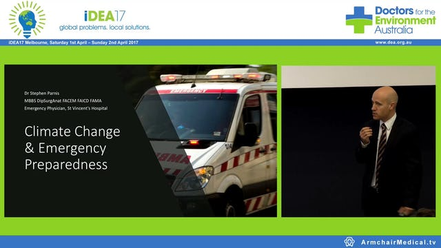 Climate Change & Emergency Preparedness Dr Stephen Parnis Emergency Physician, St Vincent's Hospital