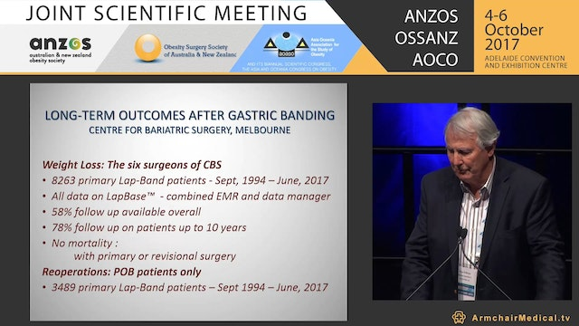 Presidents Paper Long-term outcomes after bariatric surgery including 20 year data on gastric banding - Prof Paul O'Brien