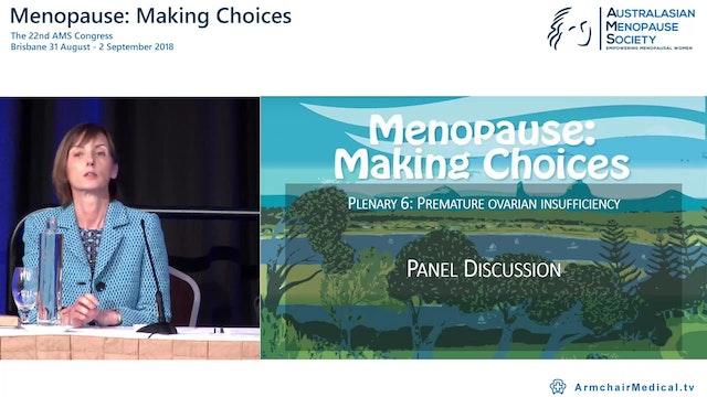 Premature ovarian insufficiency Panel Discussion