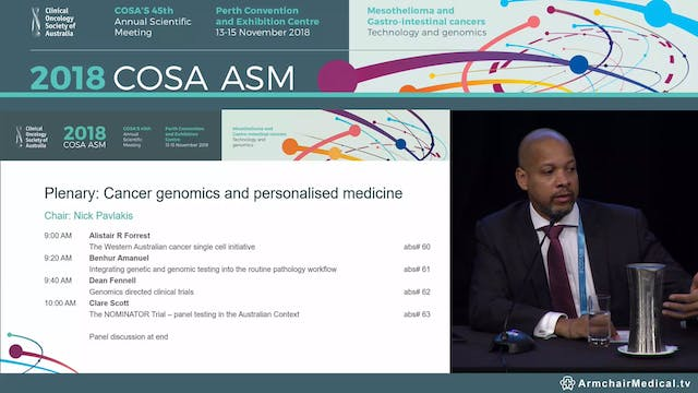 Cancer genomics and personalised medicine Panel Discussion
