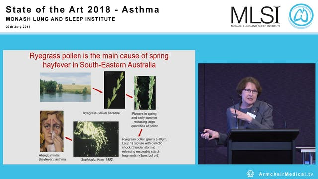 Allergy, Immunotherapy and Asthma Professor Robyn O'Hehir