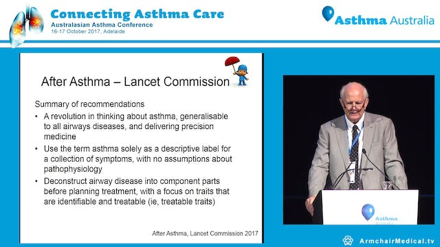 Diagnosing asthma across paediatric age range Prof Colin Robertson