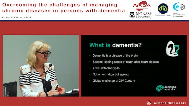 Promoting dementia care Ms Maree McCabe Dementia Australia