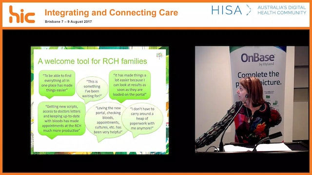 My RCH Portal Balancing risk and expectations to offer RCH patients and families a better healthcare experience Jane Widdison