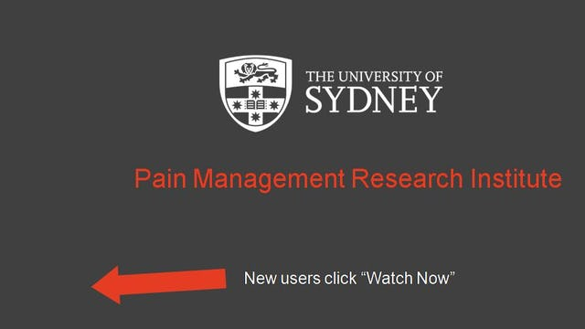 Pain Management Research Institute Lecture Series Week 1