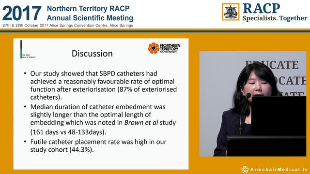 Outcomes of subcutaneously buried Peritoneal Dialysis Catheters at Royal Darwin Hospital Dr Thwe Thwe Soe