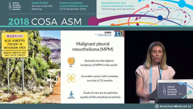 Malnutrition and sarcopenia in patients with malignant pleural mesothelioma - Emily Jeffery