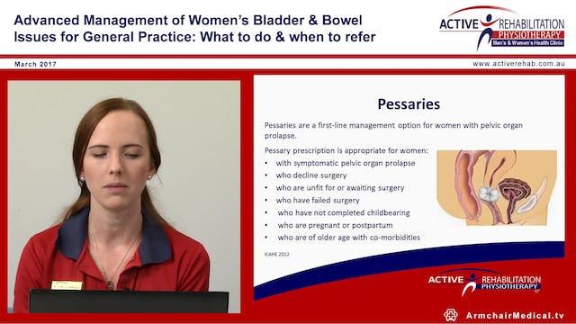 1 Physiotherapy & Pelvic Organ prolapse Amelia Samuels