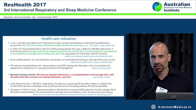 Non Pharmacological Therapies for COPD Including Pulmonary Rehabilitation Dr Paul Cafarella