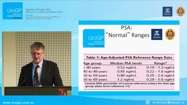 PSA testing update Who needs what test when, Prof Damien Bolton