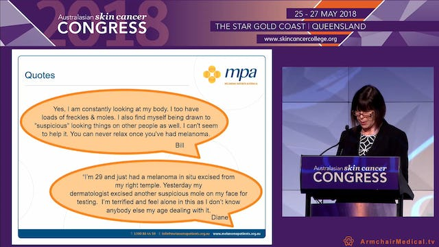 An early diagnosis doesn't necessarily mean less anxiety Ms Fiona Bennett