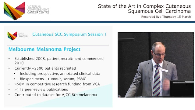 Welcome and introduction to the program objectives Mr David Gyorki, MD VCCC Research & Education Lead in Melanoma and Skin Cancer Consultant Surgeon, Peter MacCallum Cancer Centre and Austin Health