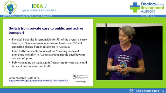 Three (and a bit more) health benefits of climate change mitigation Assoc Prof Linda Selvey Public Health Physician and former CEO Greenpeace Aust Pacific