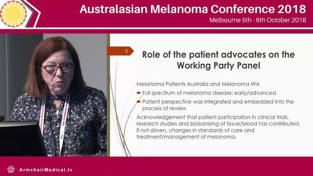 Ensuring the quality of melanoma care The National Melanoma Guidelines - the consumer perspective Alison Button-Sloan