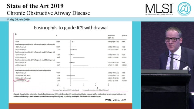 Eosinophils in COPD - do they matter Dr Martin MacDonald