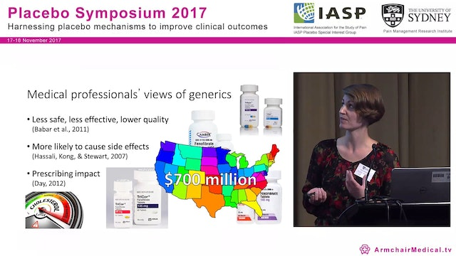 Branding and Generic Medicines The impact on treatment efficacy and side effects Dr. Kate Faasse