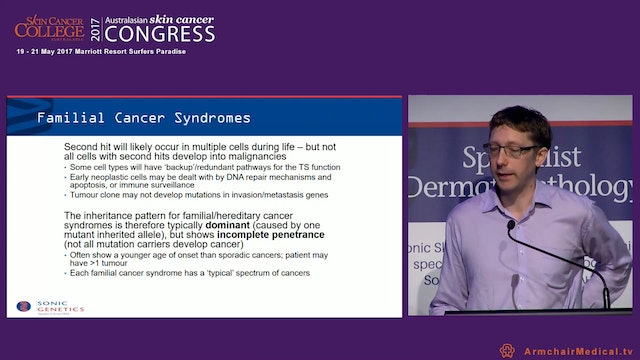 Genetic encounters with skin cancers Dr James Harraway Sonic Genetics