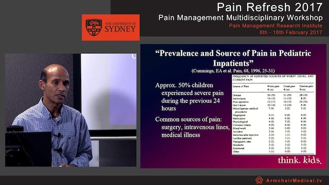 Pain management in children Dr Jonathan de Lima