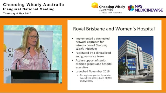 Are we choosing wisely? Jessica Toleman - Acting Director of Pharmacy and Clinical Lead  Coordinator - Choosing Wisely, Royal Brisbane and Women's Hospital