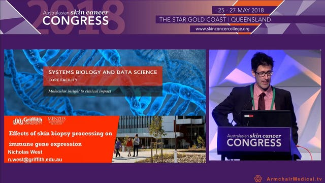Effects of skin biopsy processing on immune gene expression Dr Nicholas West