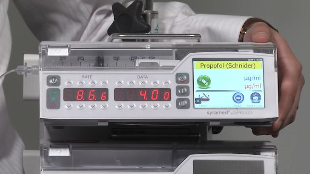 Syramed µSP6000 Chroma TCI (Target Controlled Infusion)
