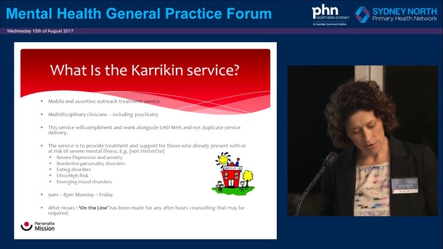 Karrikin Youth Mental Health Program Kathi Boorman