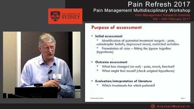 Assessment of Pain 2017 Professor Michael Nicholas