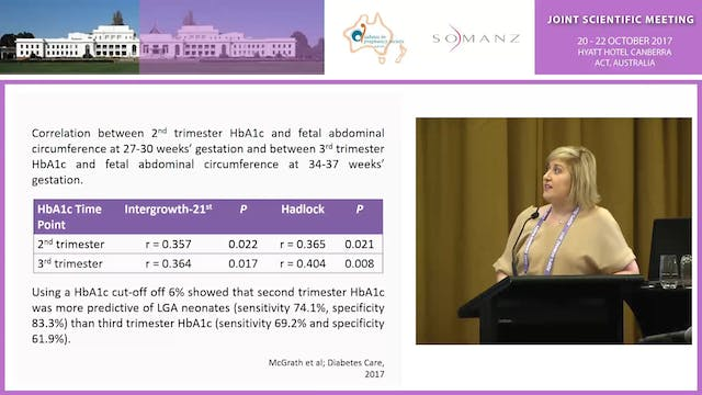Excess Foetal Growth and Glycaemic Control in Type 1 Diabetes and Pregnancy - Rachel T McGrath